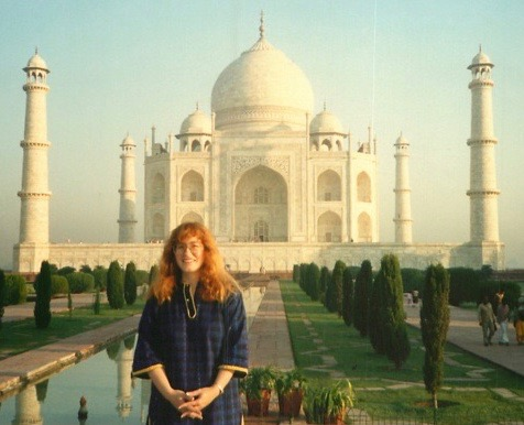 Jeri with the Taj Mahal in the background
